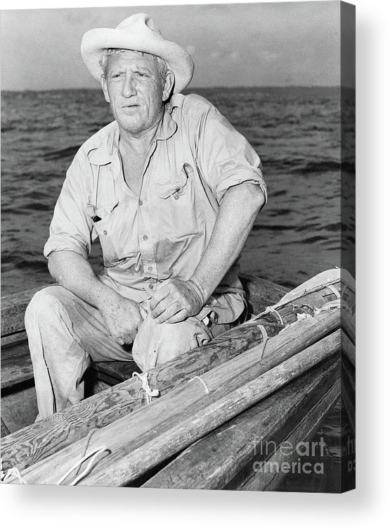 Three Quarter Length Acrylic Print featuring the photograph Spencer Tracy In A Scene From The Old by Bettmann