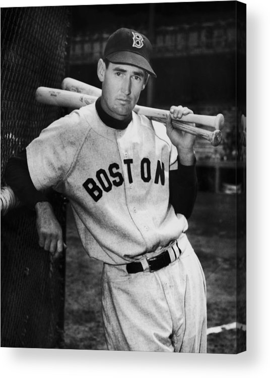 Ted Williams - Baseball Player Acrylic Print featuring the photograph Ted Williams by Fpg