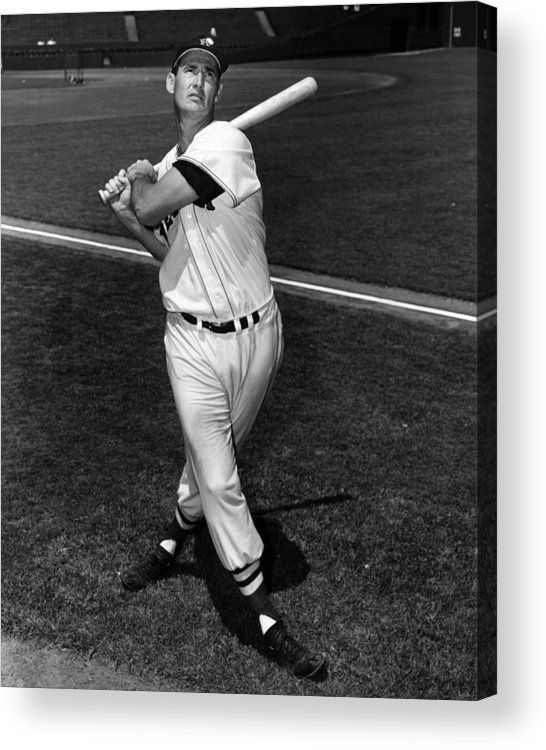 People Acrylic Print featuring the photograph Ted Williams by Hulton Archive