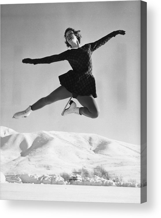 People Acrylic Print featuring the photograph Tenley Albright by Evans