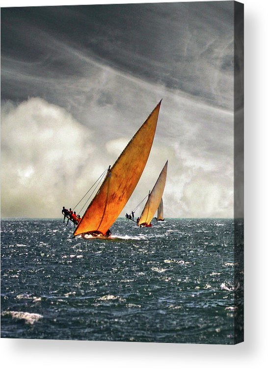 Kenya Acrylic Print featuring the photograph The Art Of Swahili Dhow Racing by David Schweitzer