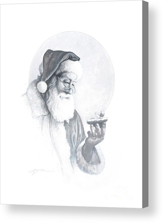 Santa Claus Acrylic Print featuring the painting The Spirit of Christmas Vignette by Greg Olsen