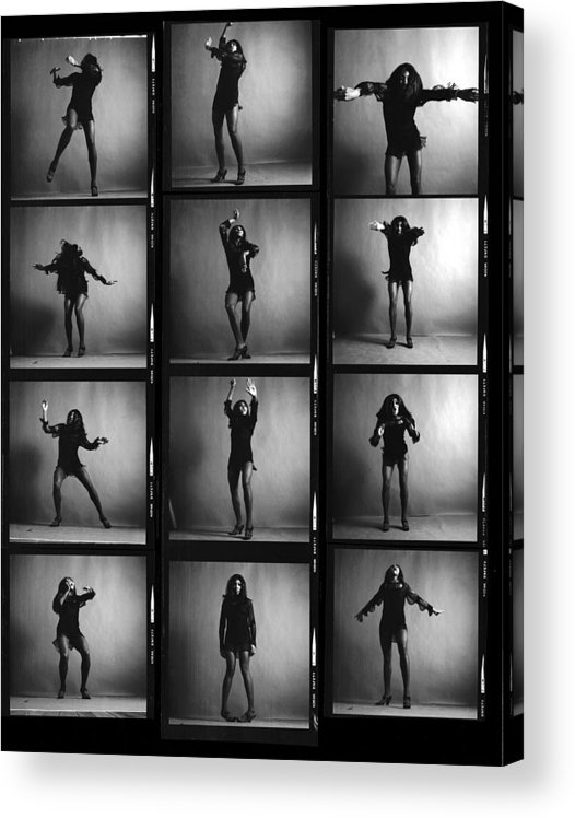 Singer Acrylic Print featuring the photograph Tina Turner Contact Sheet by Jack Robinson