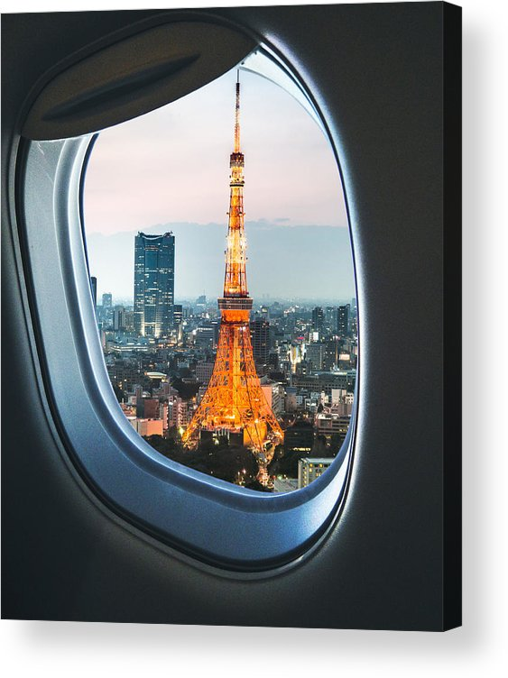 Tokyo Tower Acrylic Print featuring the photograph Tokyo Skyline With The Tokyo Tower by Franckreporter