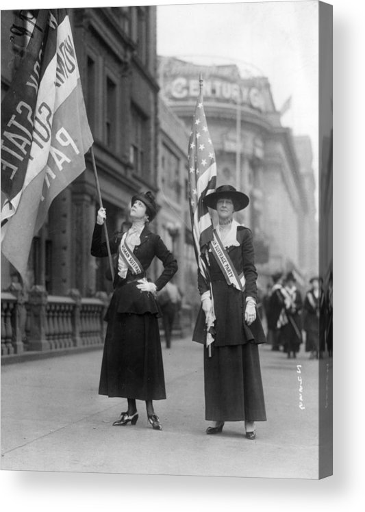 Marching Acrylic Print featuring the photograph Wake Up America by Topical Press Agency
