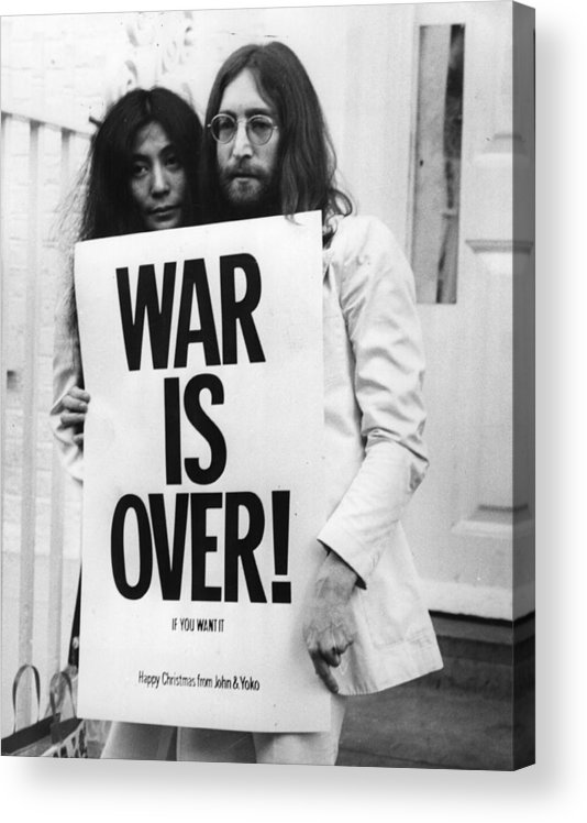Rock Music Acrylic Print featuring the photograph War Is Over by Frank Barratt