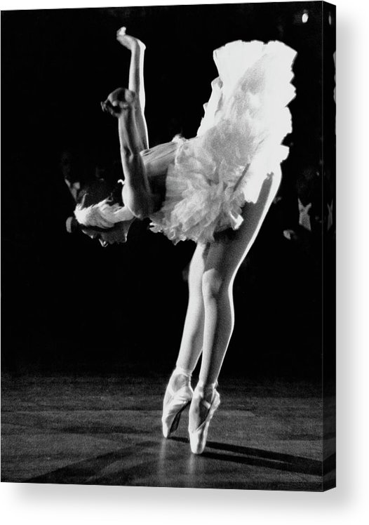 Yvette Chauviré Acrylic Print featuring the photograph Yvette Chauvire by Erich Auerbach
