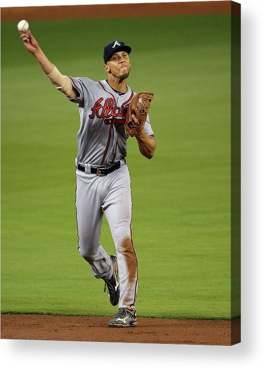 People Acrylic Print featuring the photograph Andrelton Simmons by Mike Ehrmann