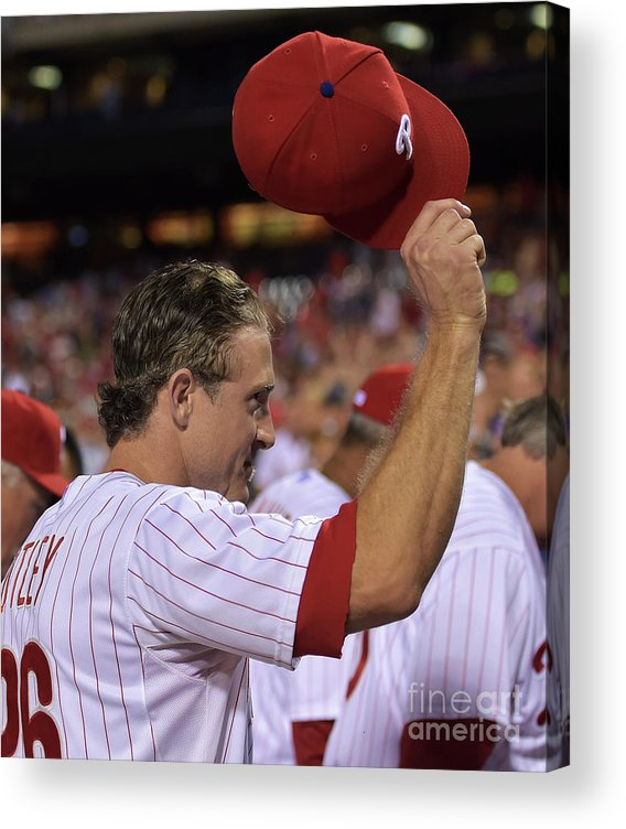 Crowd Acrylic Print featuring the photograph Chase Utley by Drew Hallowell