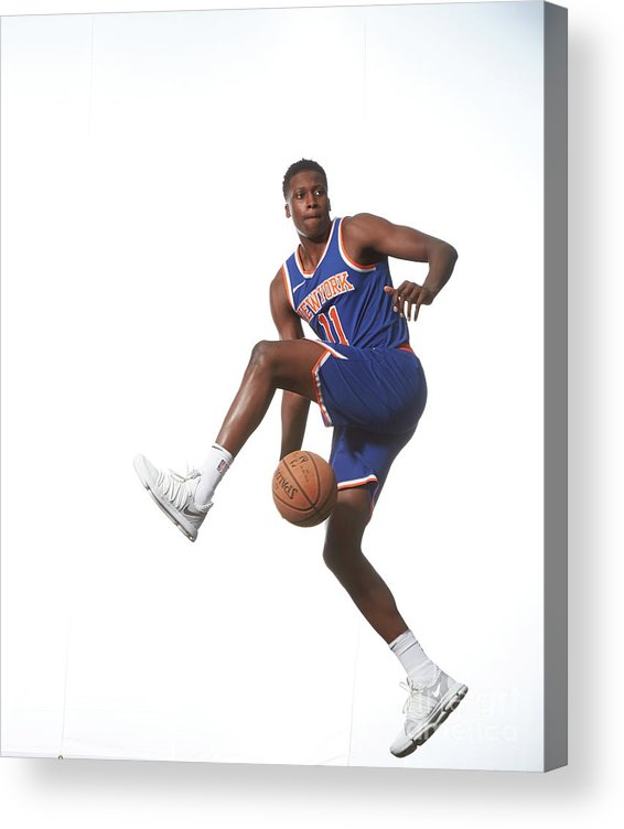 Nba Pro Basketball Acrylic Print featuring the photograph Frank Ntilikina by Nathaniel S. Butler