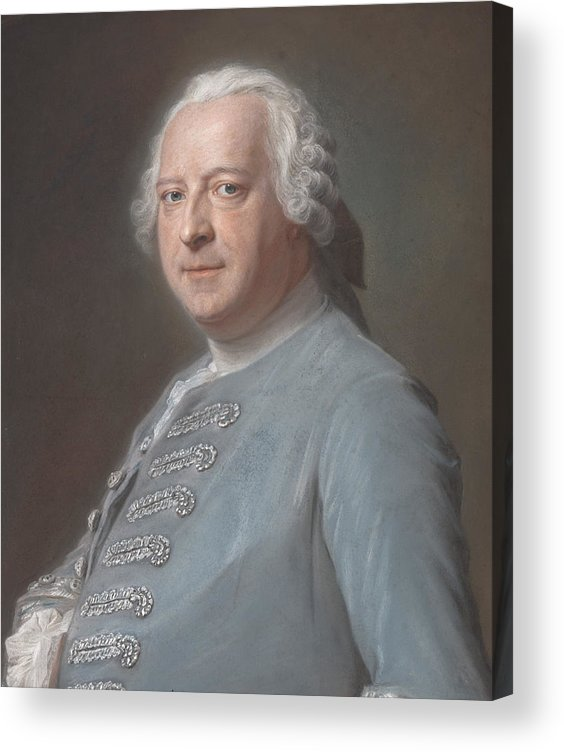 18th Century Painters Acrylic Print featuring the drawing Jean Charles Garnier D'isle by Maurice Quentin de La Tour