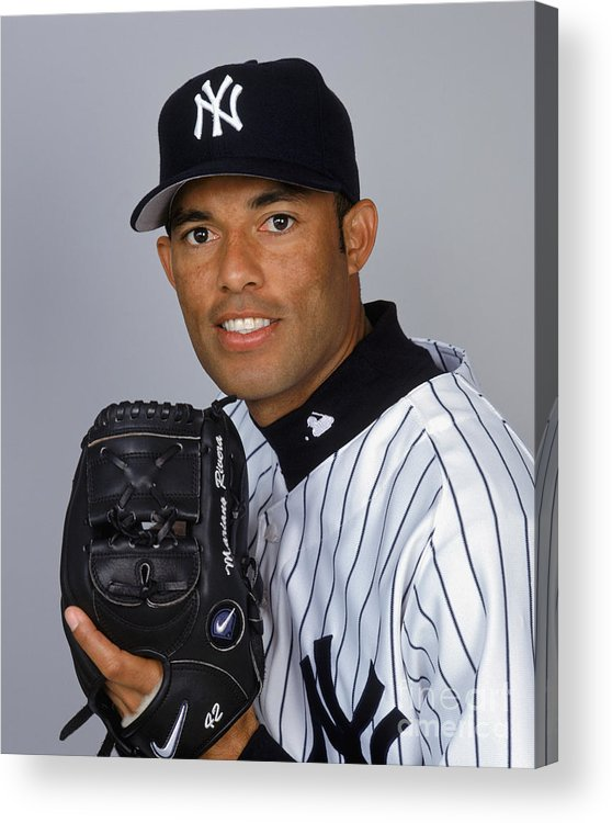 Media Day Acrylic Print featuring the photograph Mariano Rivera by Ezra Shaw