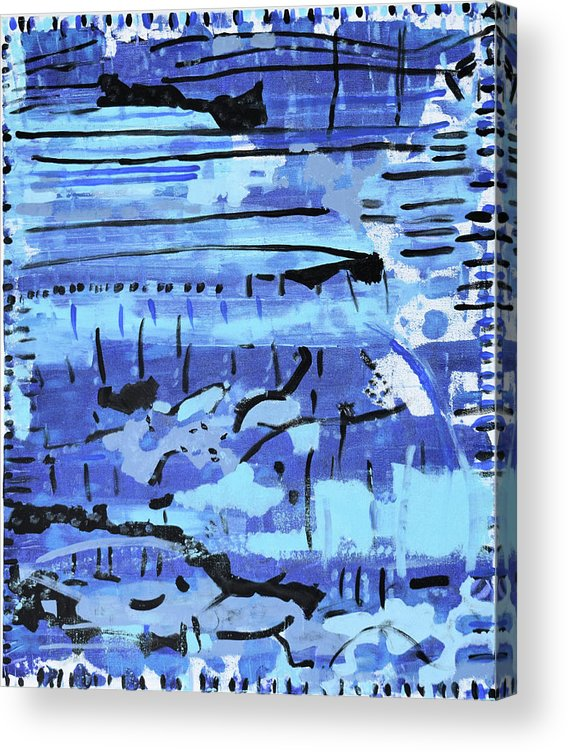 Colorado Acrylic Print featuring the painting Something Blue by Pam Roth O'Mara