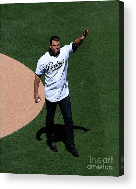 Crowd Acrylic Print featuring the photograph Trevor Hoffman by Denis Poroy