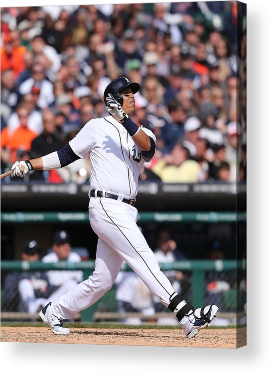 American League Baseball Acrylic Print featuring the photograph Victor Martinez by Leon Halip