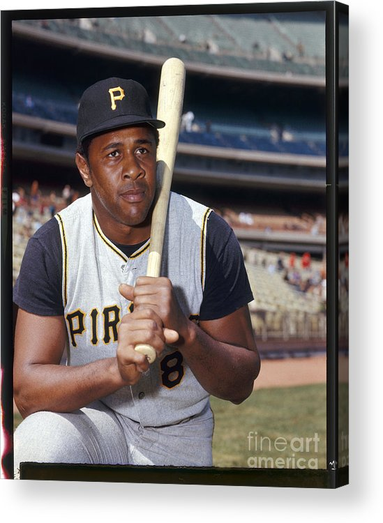 Sports Bat Acrylic Print featuring the photograph Willie Stargell by Louis Requena