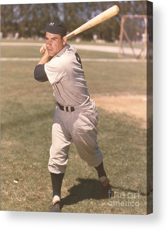 American League Baseball Acrylic Print featuring the photograph Yogi Berra by Kidwiler Collection