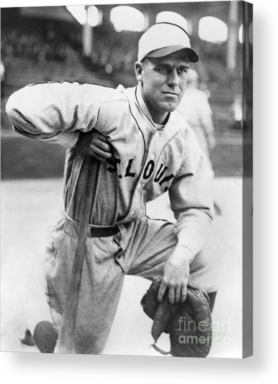 American League Baseball Acrylic Print featuring the photograph George Sisler by National Baseball Hall Of Fame Library