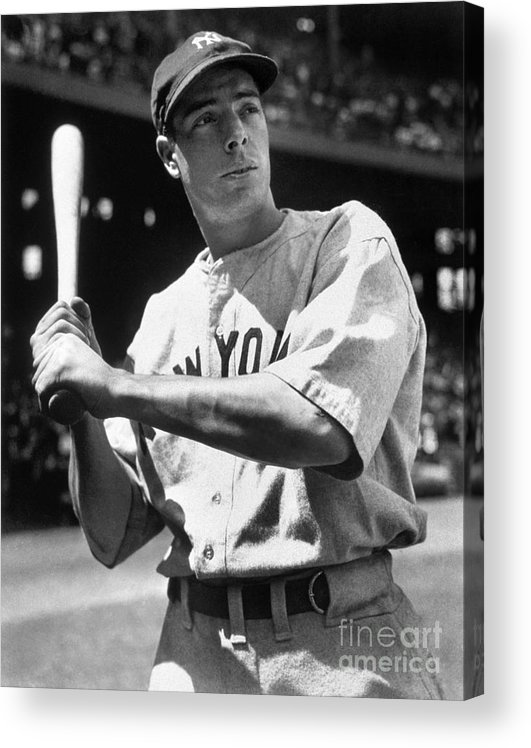 American League Baseball Acrylic Print featuring the photograph Joe Dimaggio by National Baseball Hall Of Fame Library