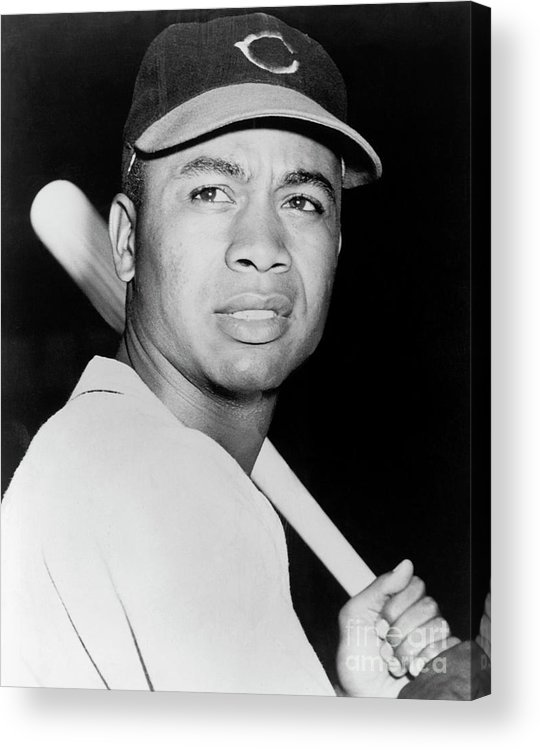 American League Baseball Acrylic Print featuring the photograph Larry Doby by National Baseball Hall Of Fame Library