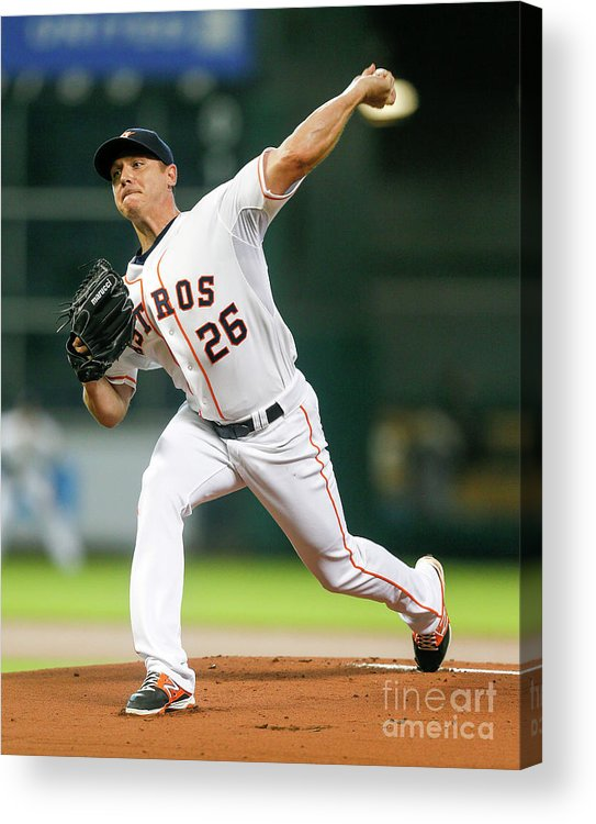People Acrylic Print featuring the photograph Scott Kazmir by Bob Levey