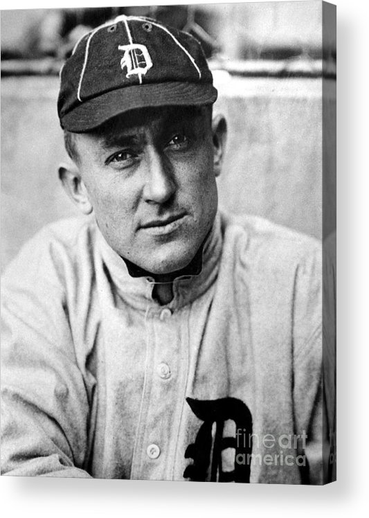 National League Baseball Acrylic Print featuring the photograph Ty Cobb by National Baseball Hall Of Fame Library