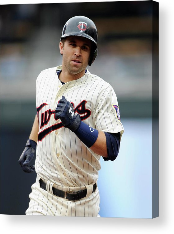 American League Baseball Acrylic Print featuring the photograph Brian Dozier by Hannah Foslien