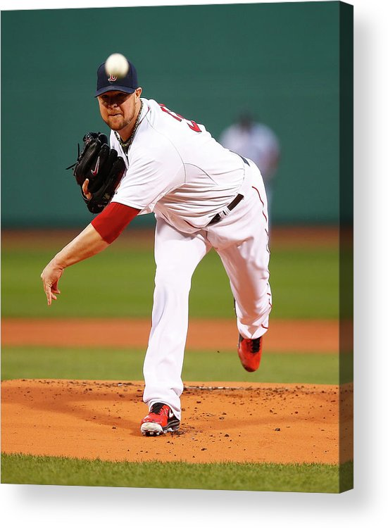 American League Baseball Acrylic Print featuring the photograph Jon Lester by Jared Wickerham