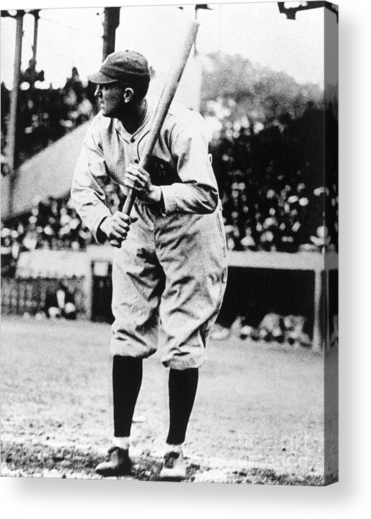 American League Baseball Acrylic Print featuring the photograph Ty Cobb by National Baseball Hall Of Fame Library