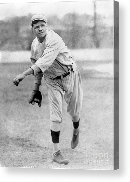 People Acrylic Print featuring the photograph Babe Ruth by National Baseball Hall Of Fame Library