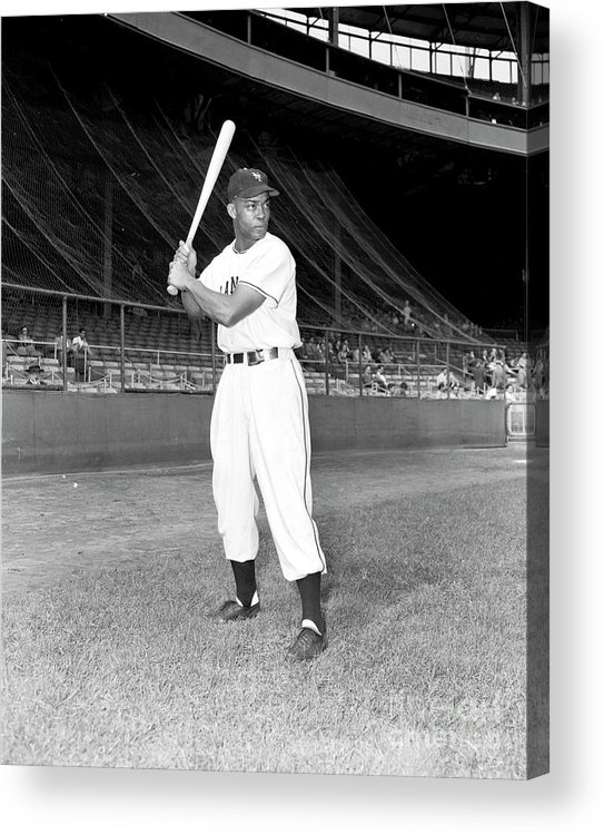 People Acrylic Print featuring the photograph Monte Irvin by Kidwiler Collection