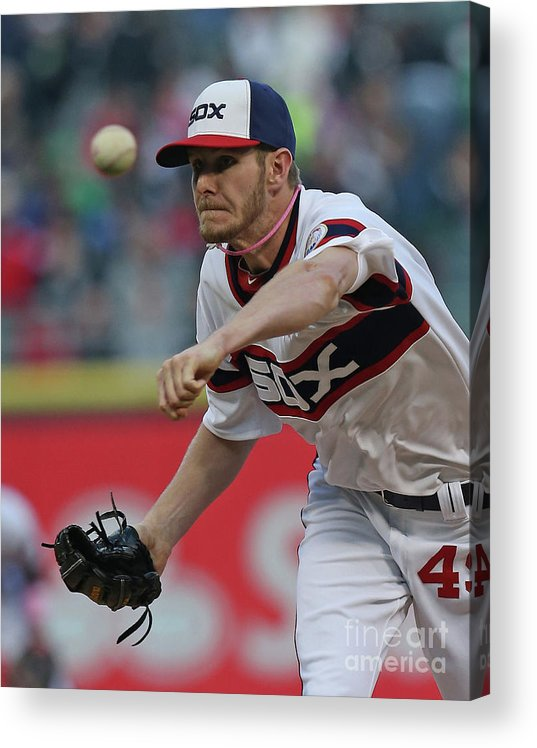 American League Baseball Acrylic Print featuring the photograph Chris Sale by Jonathan Daniel