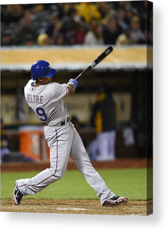 Adrian Beltre Acrylic Print featuring the photograph Adrian Beltre and Elvis Andrus by Thearon W. Henderson