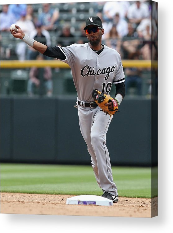 American League Baseball Acrylic Print featuring the photograph Alexei Ramirez by Doug Pensinger