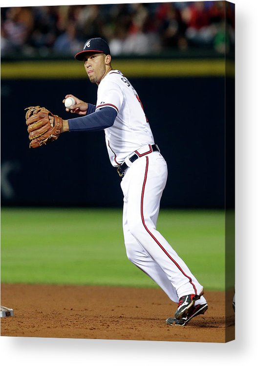 Atlanta Acrylic Print featuring the photograph Andrelton Simmons by Butch Dill
