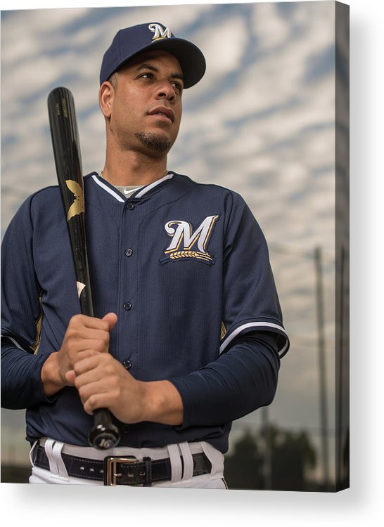 Media Day Acrylic Print featuring the photograph Aramis Ramirez by Rob Tringali