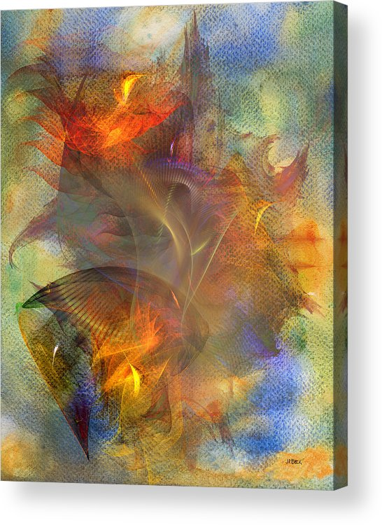 Autumn Ablaze Acrylic Print featuring the digital art Autumn Ablaze by John Robert Beck