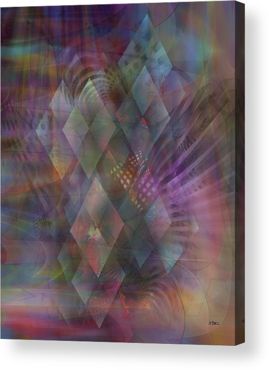 Bedazzled Acrylic Print featuring the digital art Bedazzled by Studio B Prints