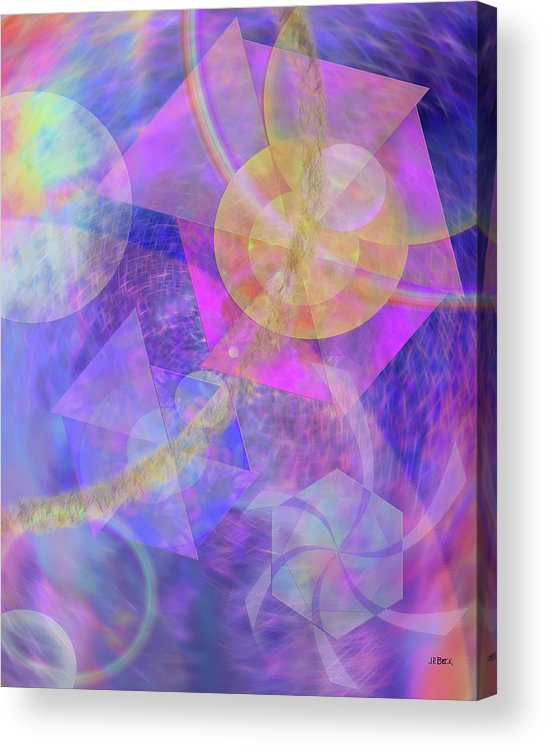 Blue Expectations Acrylic Print featuring the digital art Blue Expectations by John Robert Beck