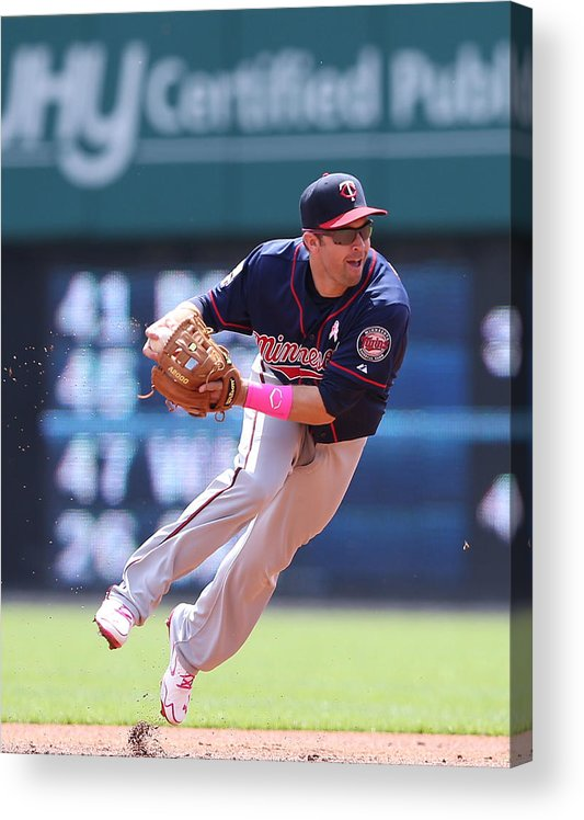 Second Inning Acrylic Print featuring the photograph Brian Dozier by Leon Halip