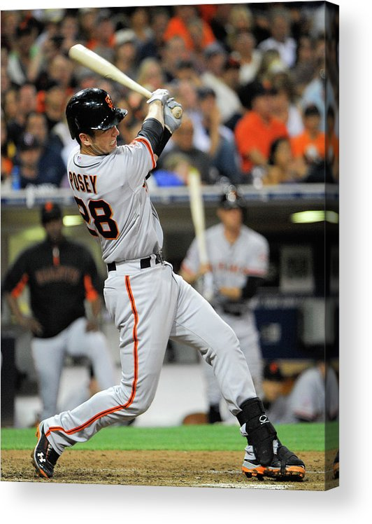 California Acrylic Print featuring the photograph Buster Posey by Denis Poroy