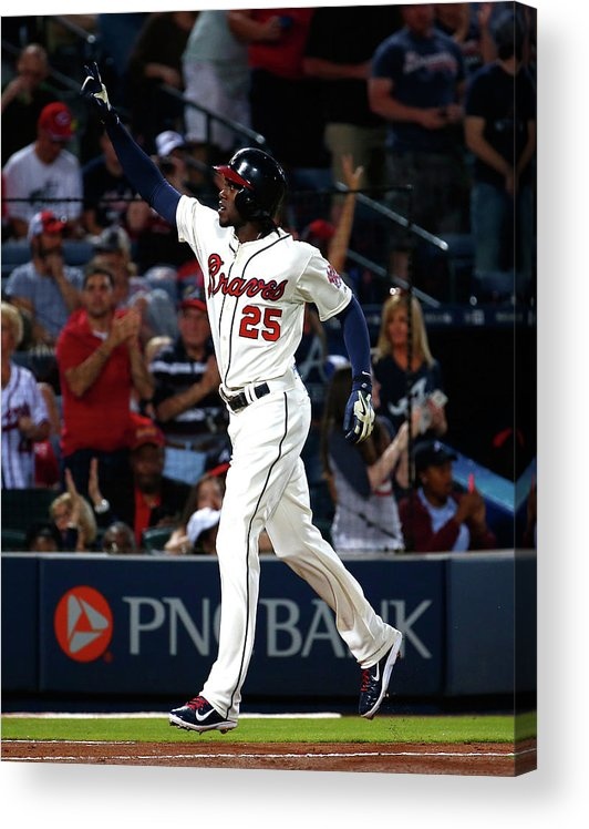 Atlanta Acrylic Print featuring the photograph Cameron Maybin by Kevin C. Cox