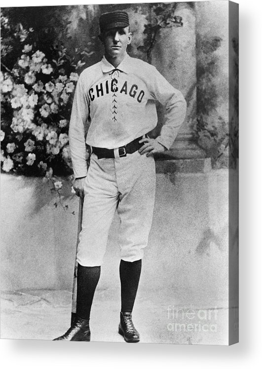 Formalwear Acrylic Print featuring the photograph Cap Anson by National Baseball Hall Of Fame Library