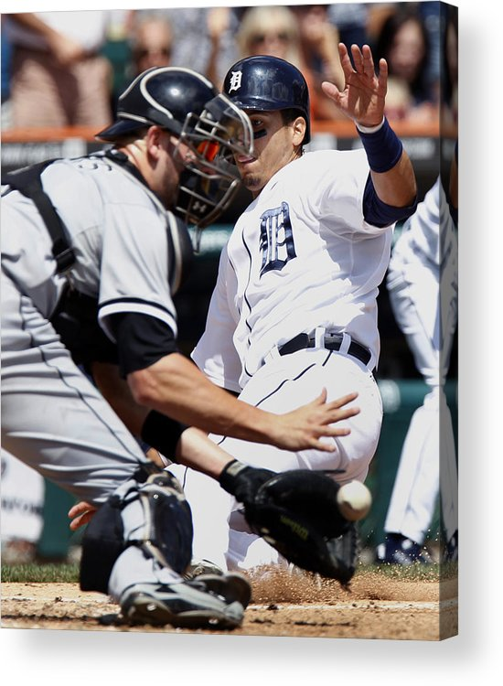 Baseball Catcher Acrylic Print featuring the photograph Chicago White Sox v Detroit Tigers by Duane Burleson