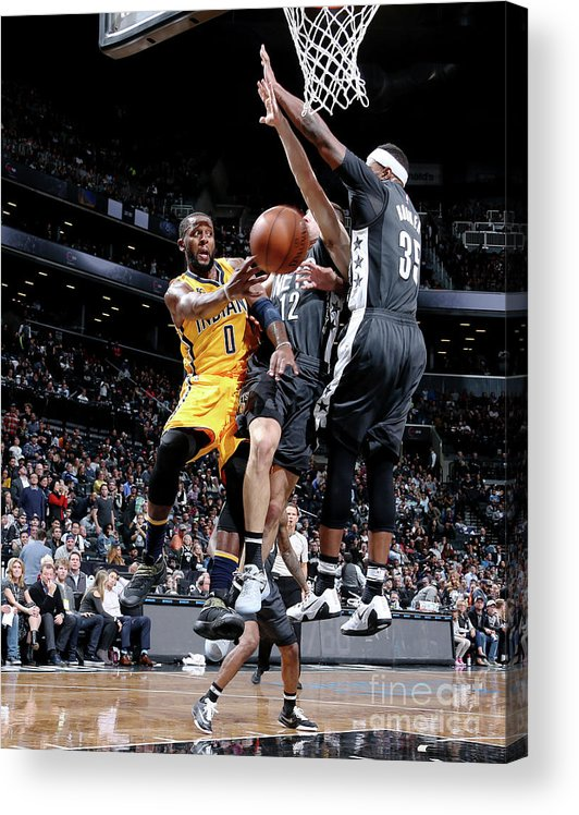 Nba Pro Basketball Acrylic Print featuring the photograph C.j. Miles by Nathaniel S. Butler
