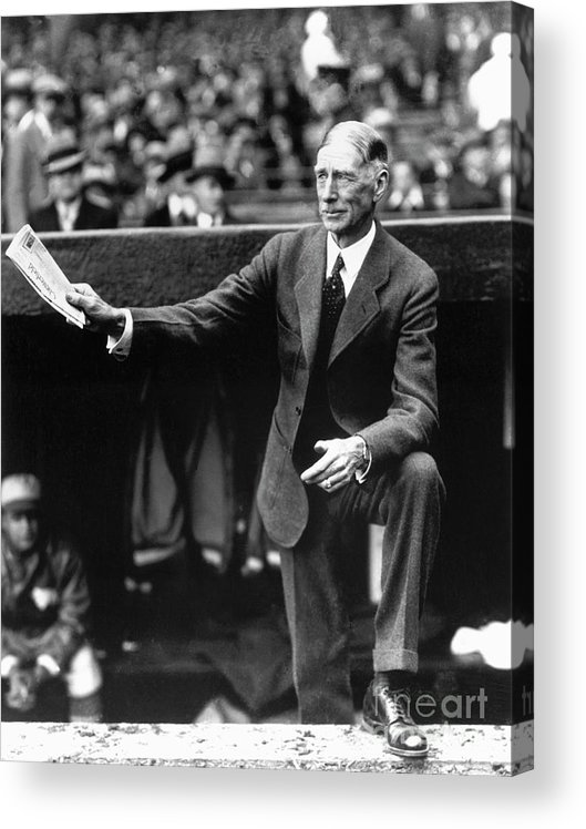 American League Baseball Acrylic Print featuring the photograph Connie Mack by National Baseball Hall Of Fame Library