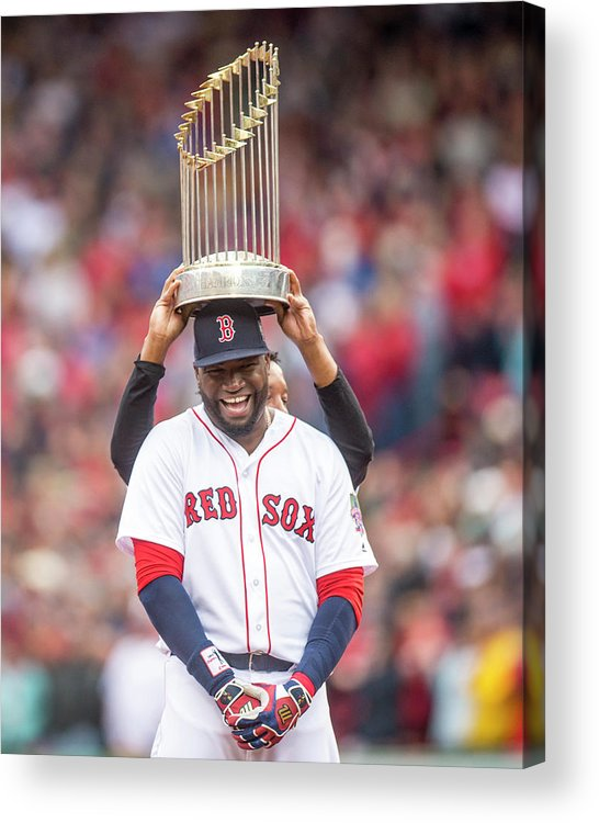 People Acrylic Print featuring the photograph David Ortiz and Pedro Martinez by Billie Weiss/boston Red Sox