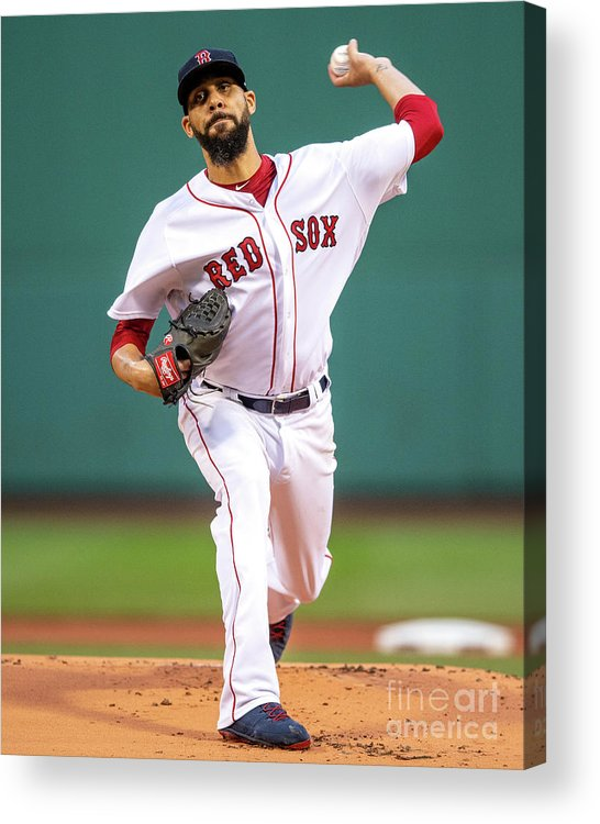 David Price Acrylic Print featuring the photograph David Price by Billie Weiss/boston Red Sox
