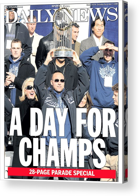 Showing Acrylic Print featuring the photograph Derek Jeter by New York Daily News Archive
