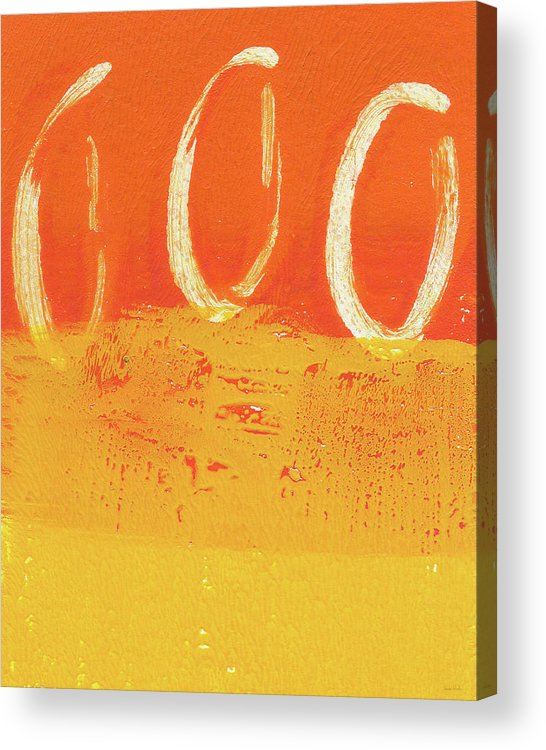 Abstract Acrylic Print featuring the painting Desert Sun by Linda Woods